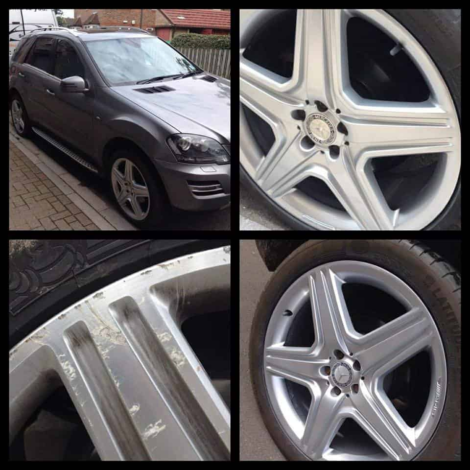 Mercedes ML's Diamond Cut Alloy Wheel Refurbishment