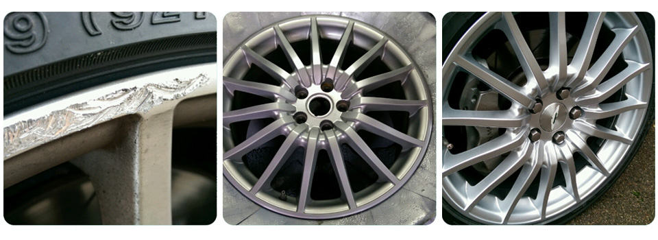 Kerbed Alloy Wheel Repair & Refurbishment