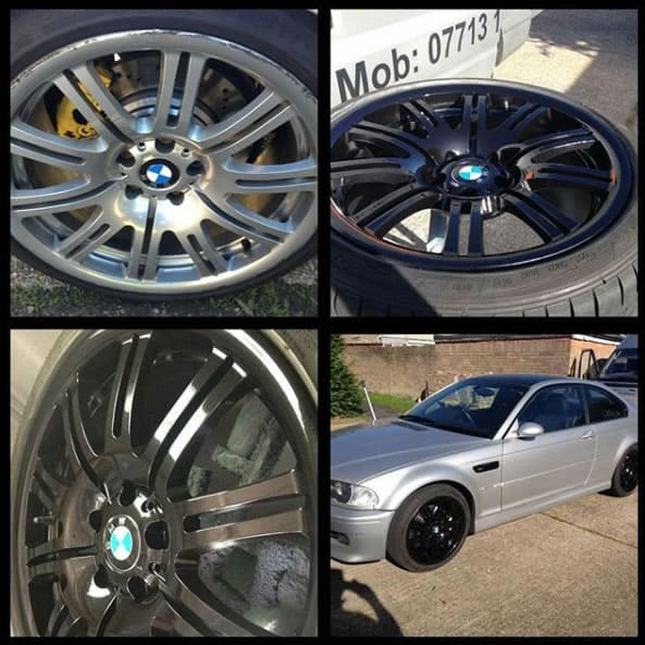 BMW M3 Alloy Refurbishment in Gloss Black