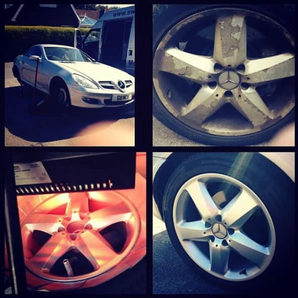 Mercedes Diamond Cut Alloy Wheel Refurbishment