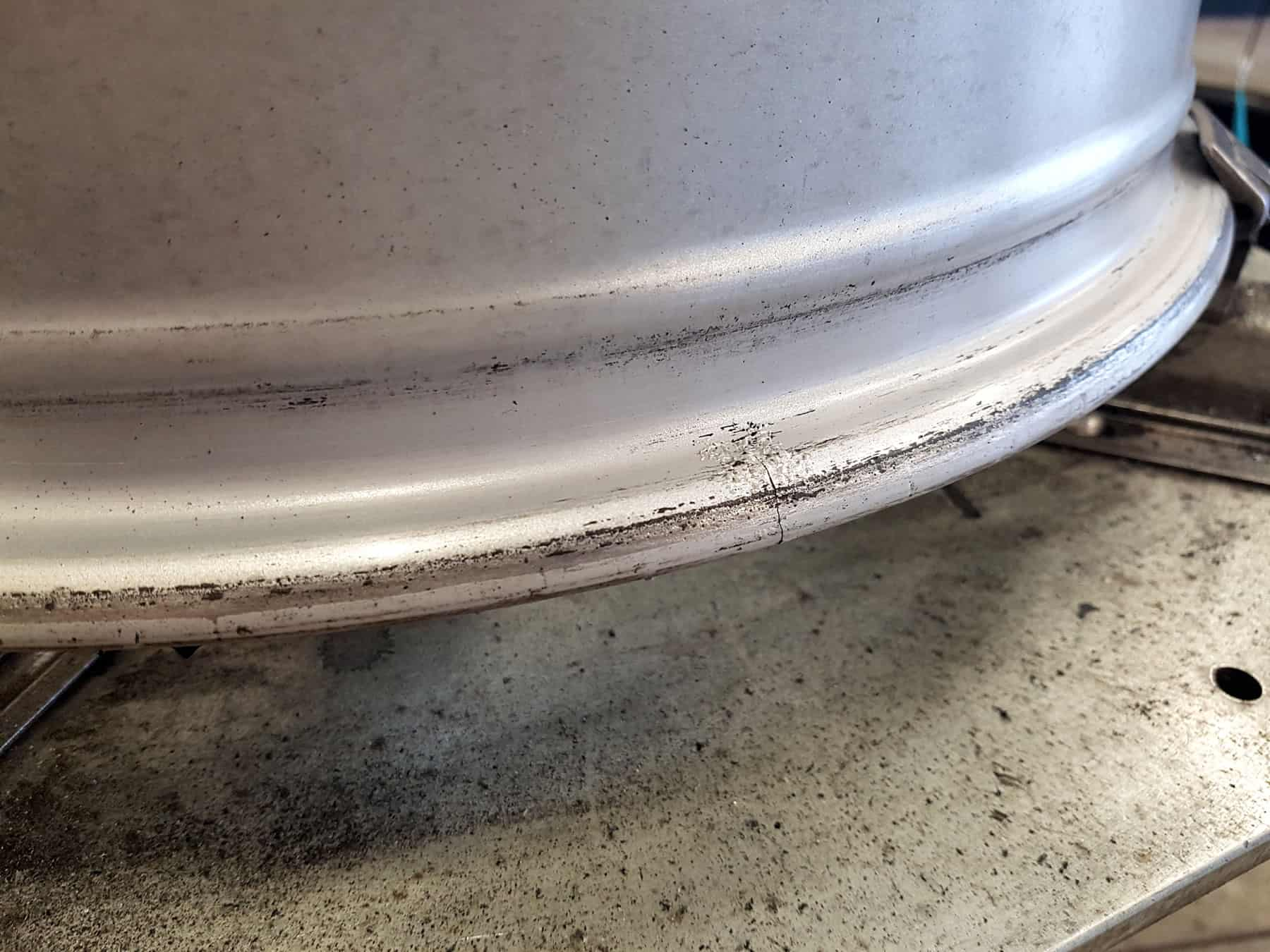Cracked Alloy Wheel